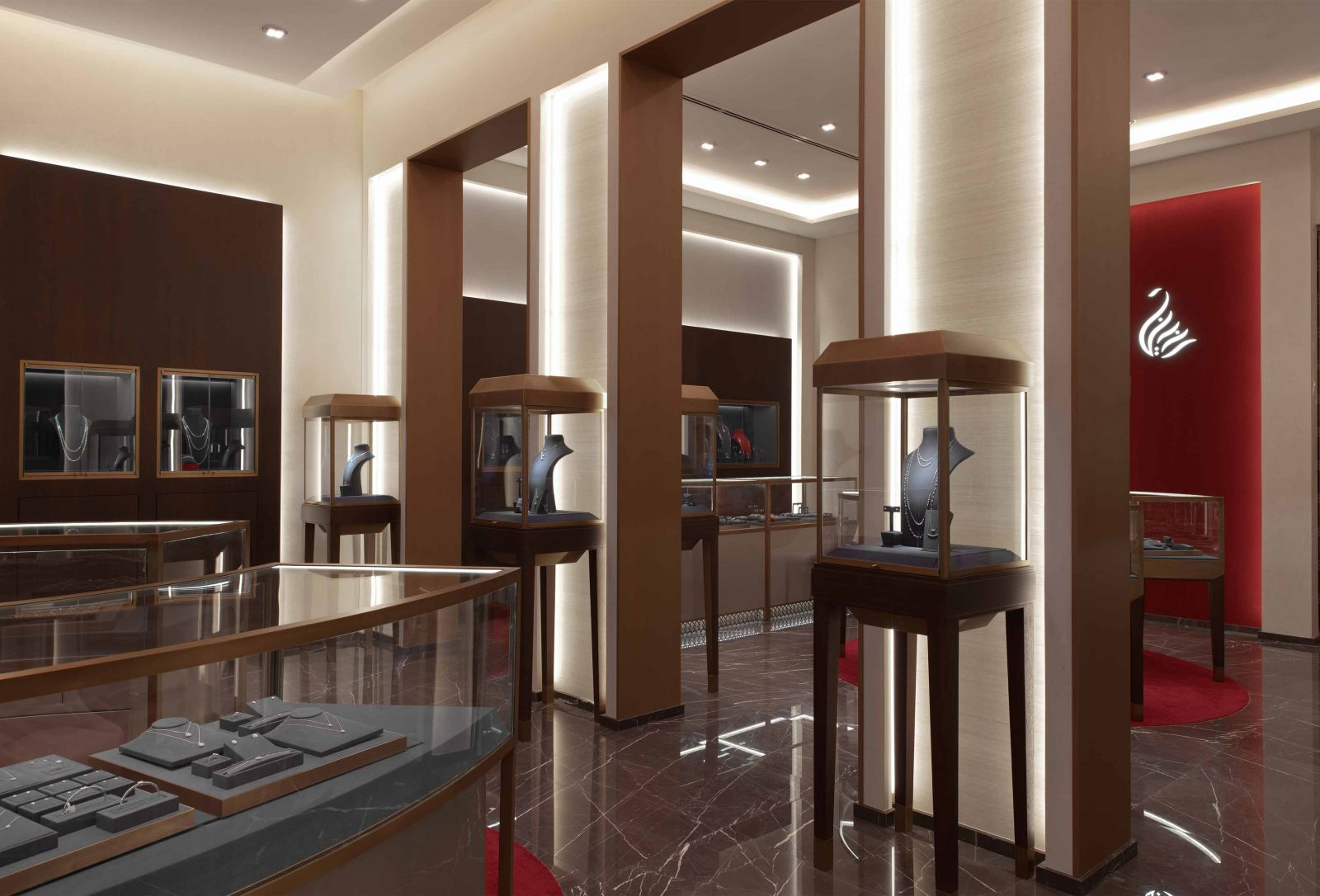 Architectural Lighting Design Retail Jewellery Store Bahrain Integrated Cabinet Illumination Studio N
