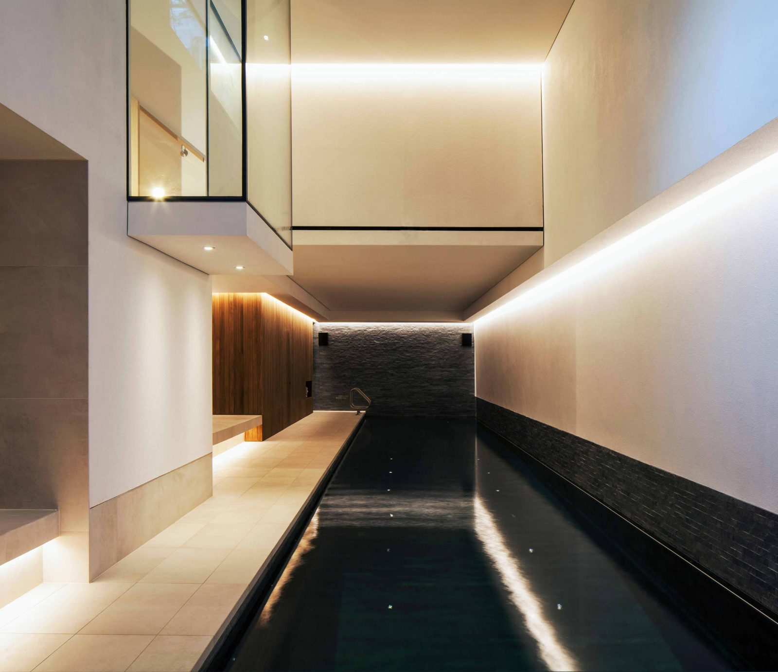 Architectural Lighting Scheme Swimming Pool Contemporary Interior Design Studio N