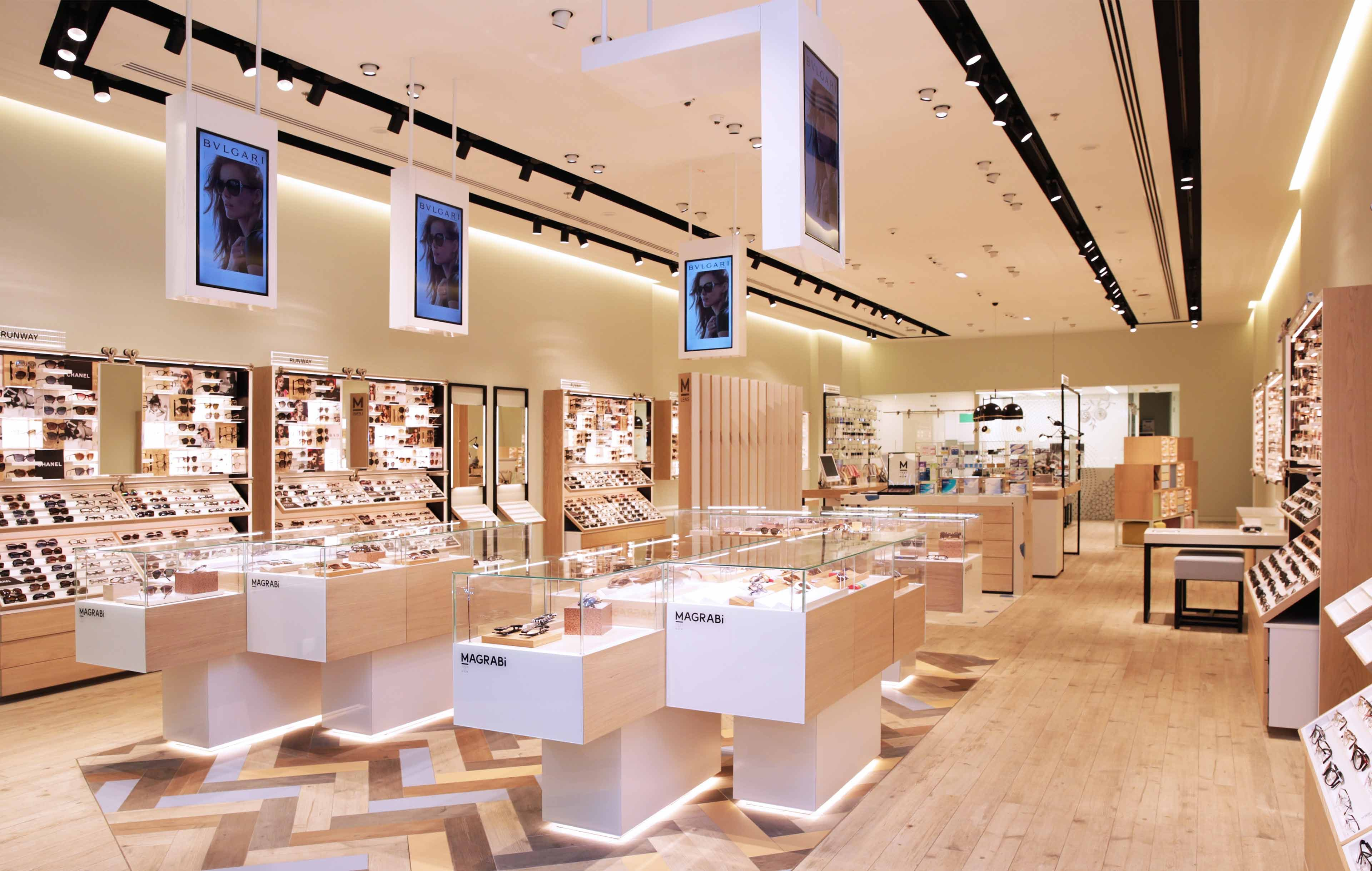 Architectural Lighting Design Optical Retail Store Modern Stylish Interior Studio N