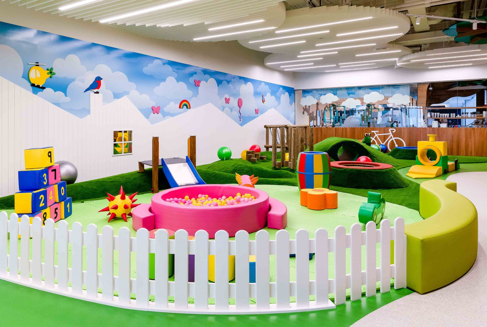 Lighting Design Children's Indoor Soft Play Park Fun Colour Interior Circular Ceiling Lights Dubai Consultants Studio N