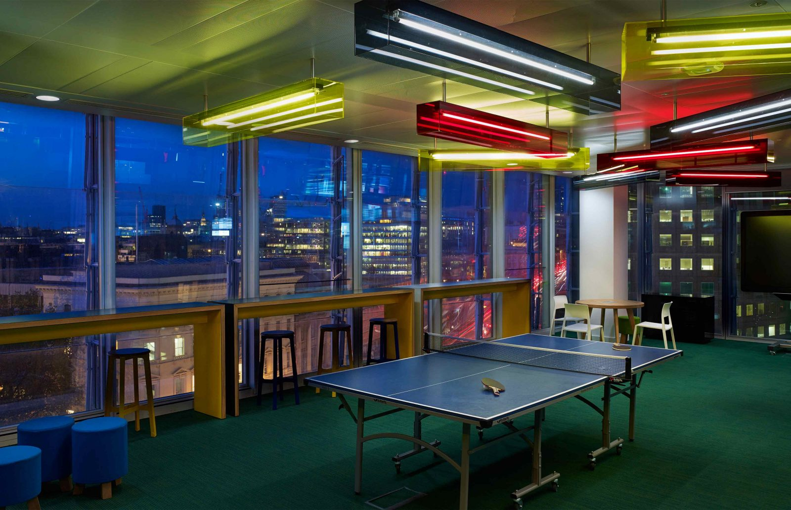 Feature Lighting Design Colourful Funky Games Room Corporate Office Studio N