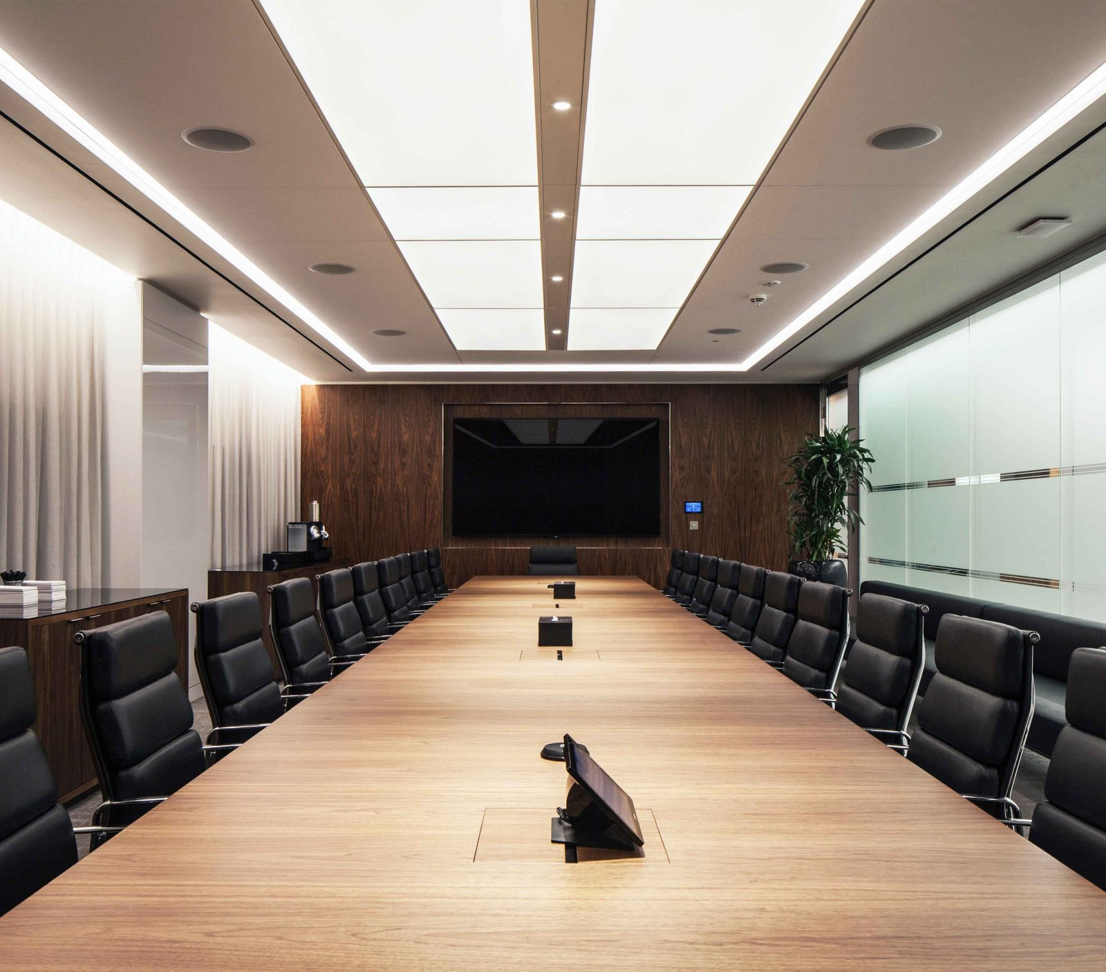 Architectural Lighting Conference Boardroom Corporate Office Illuminated Ceiling Panels Studio N