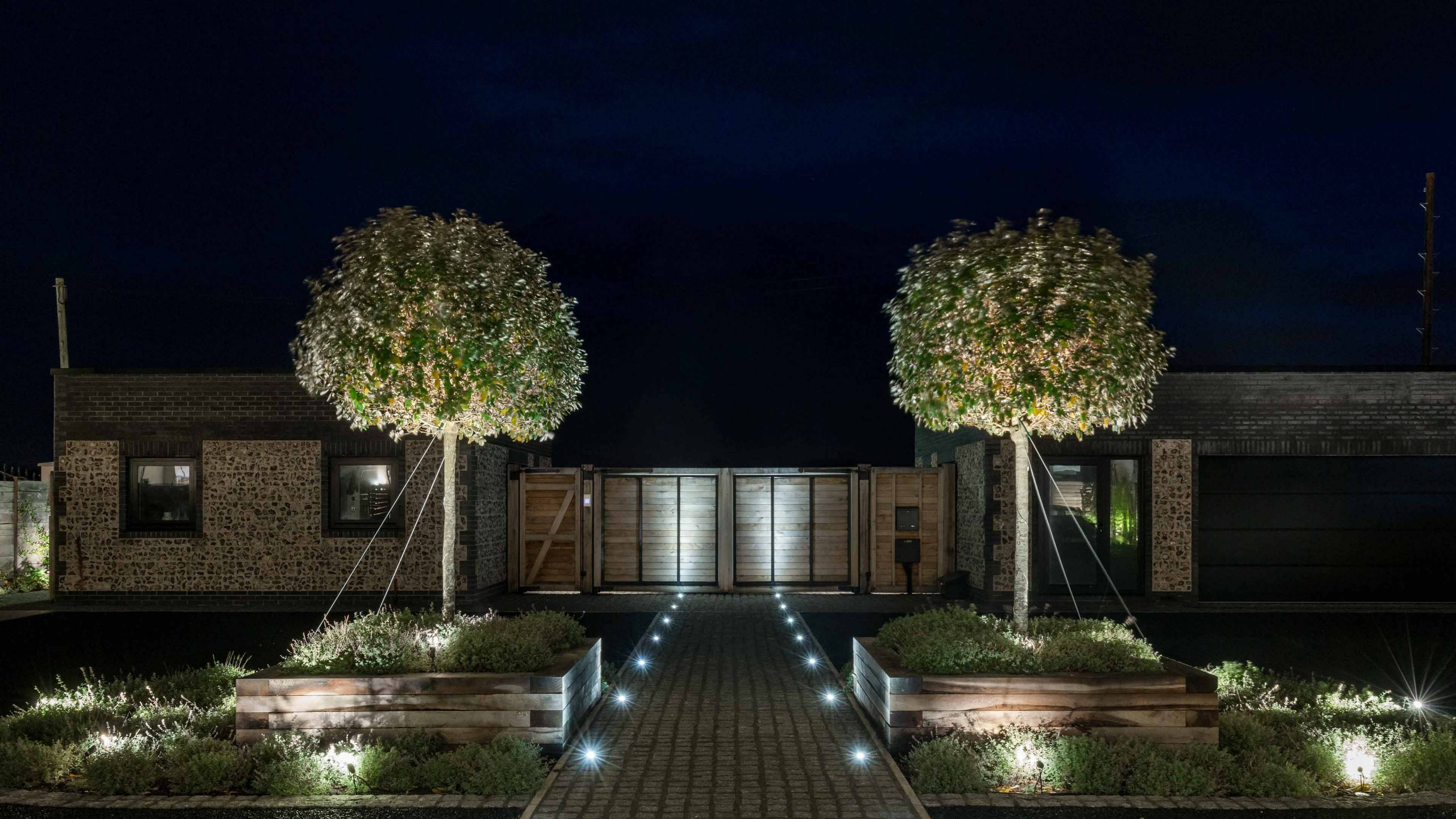 Lighting Design Scheme Landscape Residential Pathway Trees Studio N