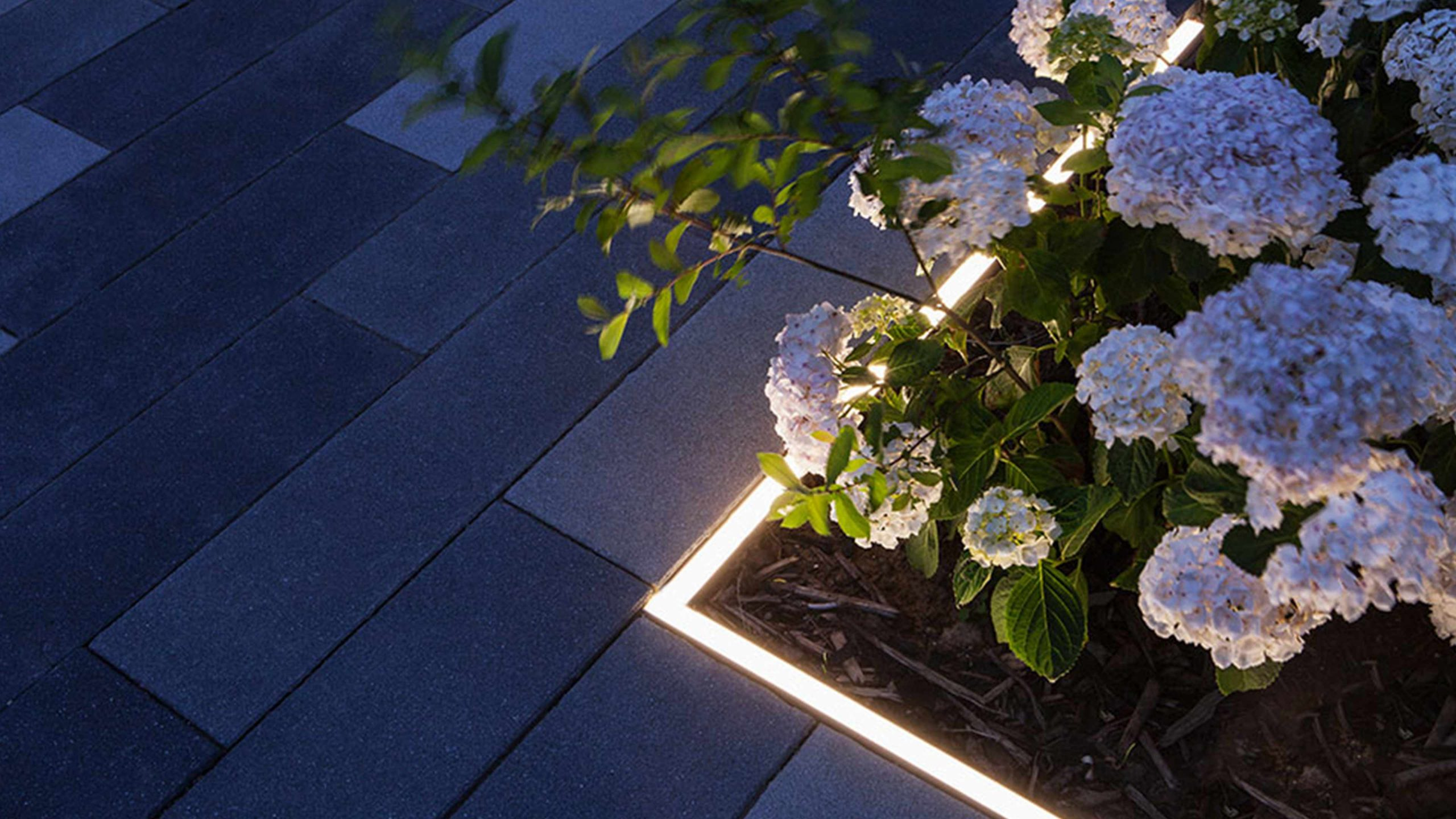 Garden Lighting Design Illuminated Flower Bed Consultants Studio N