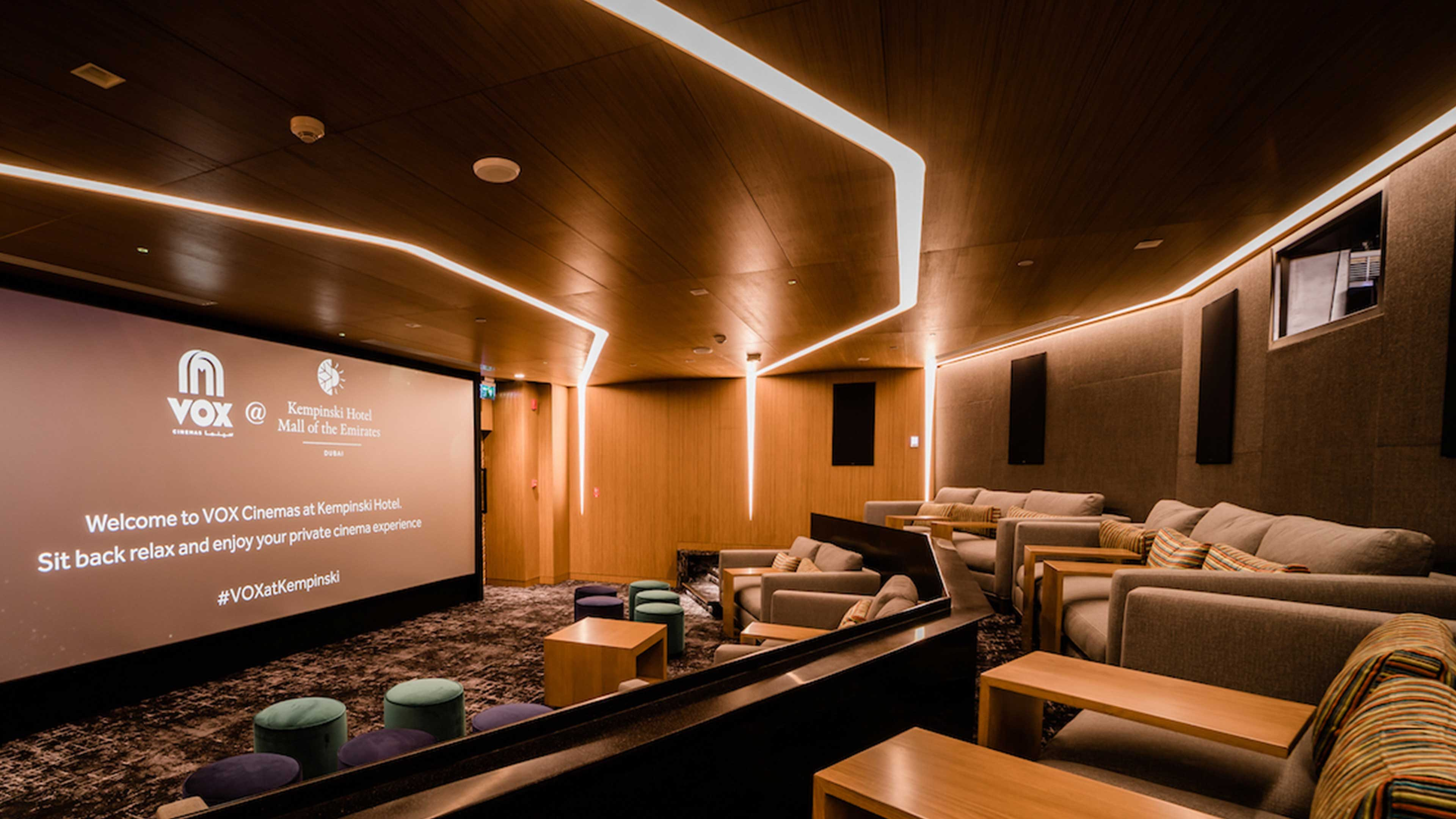 Architectural Lighting Design Recessed Linear Illumination Wall Ceiling Feature Private Luxury Cinema Dubai Studio N
