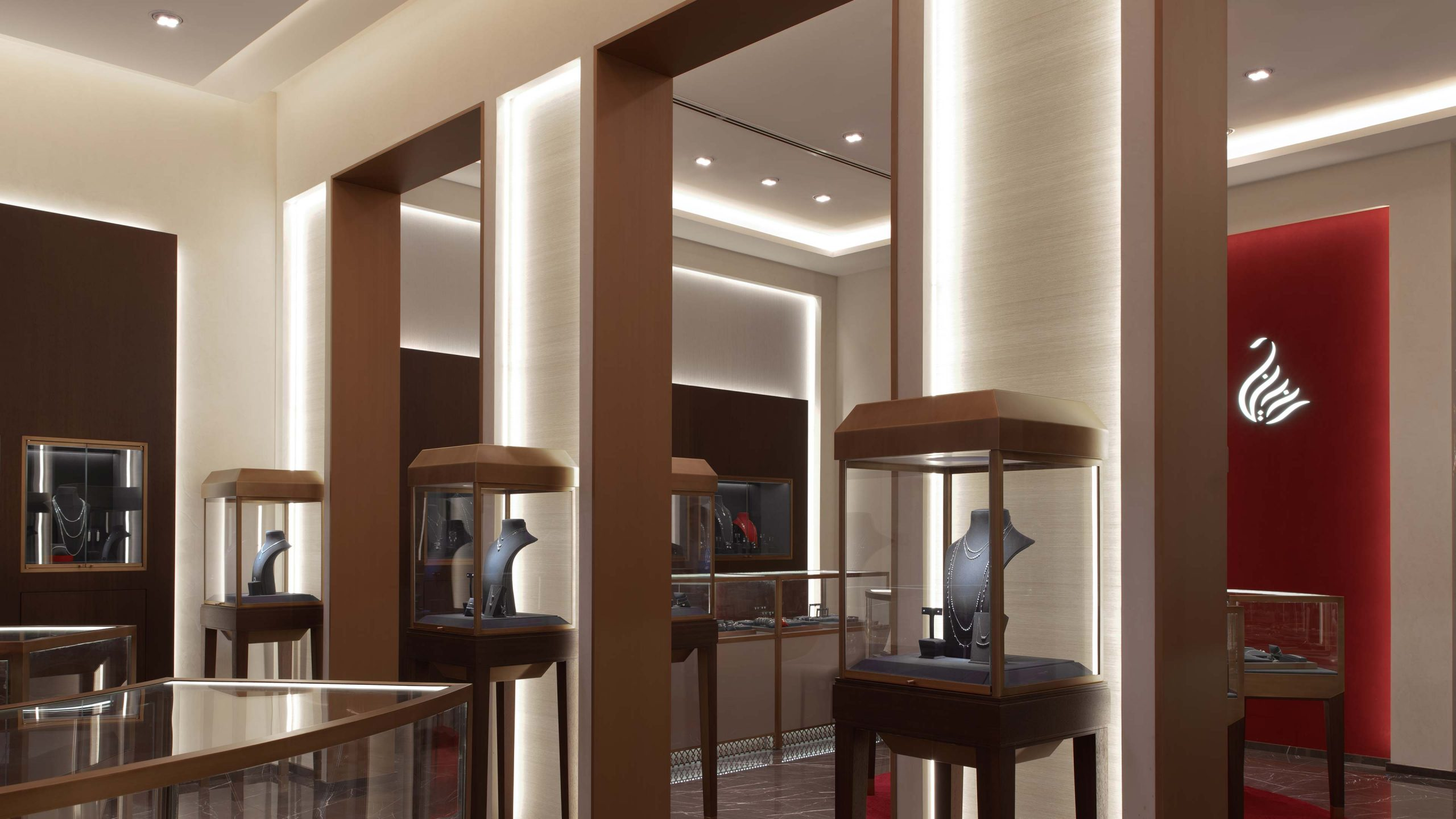 Architectural Lighting Design Retail Jewellery Store Al Zain Bahrain Integrated Cabinet Illumination Studio N