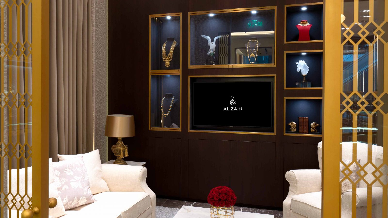 Lighting Design Luxury Retail Al Zain Jewellery Boutique Client Lounge Seating Display Cases Studio N